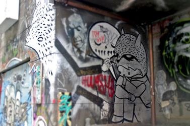paste up by Ghost Patrol