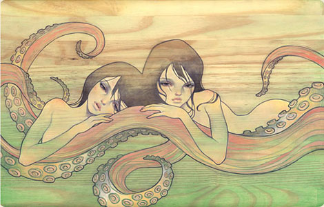 Octo Girls by Audrey Kawasaki