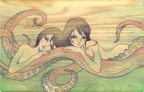 Octo Girls by Audrey Kawasaki